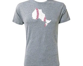 Ontario Baseball (White/Red) - NLA Premium Heather