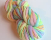 Handspun Thick and Thin Merino Wool Yarn - 50 yards - Easter Egg