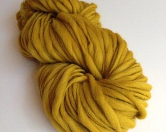 Handspun Thick and Thin Merino Wool Yarn - 50 yards - Dijon