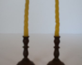 Miniature Brass Candle Holders