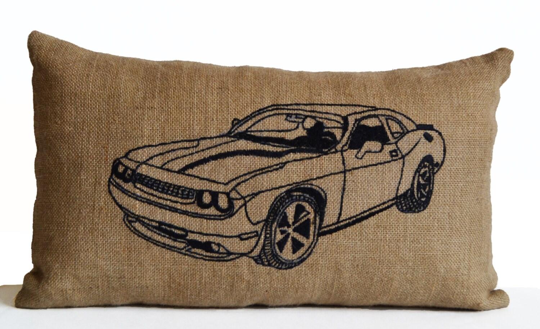 Car Pillow Cushion Cover Personalized Custom Burlap