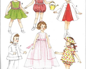 Butterick 6001, 18 in Doll Clothes sewing pattern, American doll clothes sewing pattern, Retro Doll Clothes Sewing Pattern, New Uncut