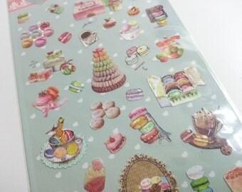Sweet Macaron Sticker   - 1 Sheet