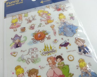 Cinderella Sticker - 1 sheet