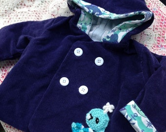 Ollie the whale jacket-2t