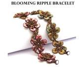 Blooming Ripple Bracelet - PDF beading pattern - Instant Download