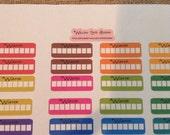 Hydrate Stickers  ... Planner Stickers... Paper Plum, Erin Condren, Happy Planner, Filofax SHIPPING INCLUDED!