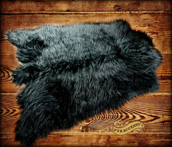FUR ACCENTS Deer Skin Area Pelt Rug / Faux Fur / By FurAccents