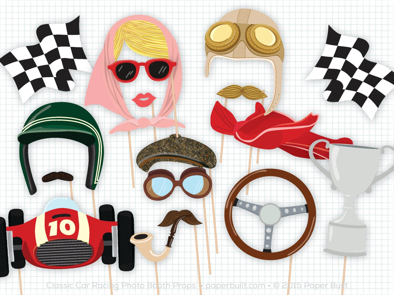 Race Car Photo Booth Props Photobooth Props Classic Car