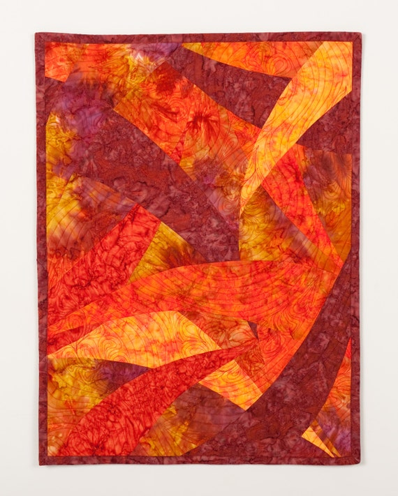 Art Quilt Curves Any Way You Like It, Quilted Wall Hanging