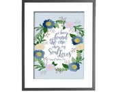 """Song of Solomon 3:4 - I Have Found the One whom My Soul Loves - INSTANT DOWNLOAD - 8""""x10"""" Printable Art"""