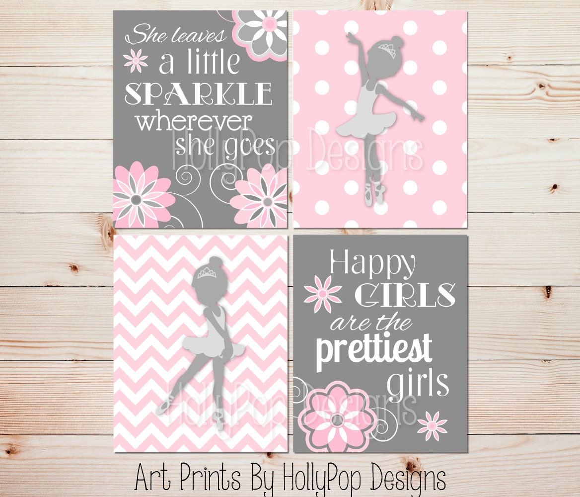 Girls Room Decor Kids Room Decor Girl Nursery Art Baby Room Artwork Pink Gray Nursery Decor