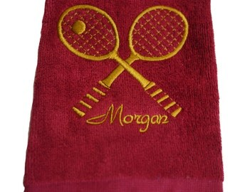 PERSONALIZED TENNIS TOWEL - Machine Embroidered