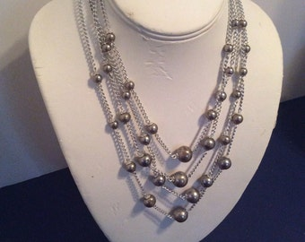 Silver toned adjustable necklace 14 to 16 in