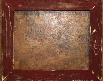 """1-1/2"""" Maroon Distressed Picture Frame"""