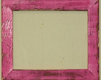 """1-1/2"""" Hot Pink Distressed Picture Frame"""