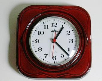 Vintage Meister Anker Quartz ceramic kitchen wall clock, Germany