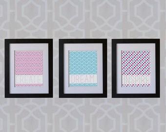 8x10 Print Set- Inspire, Dream, Create