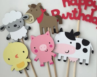 Farm Animal Centerpiece, 6 Piece Farm Animal Centerpiece, Farm Animals Birthday, Farm Birthday
