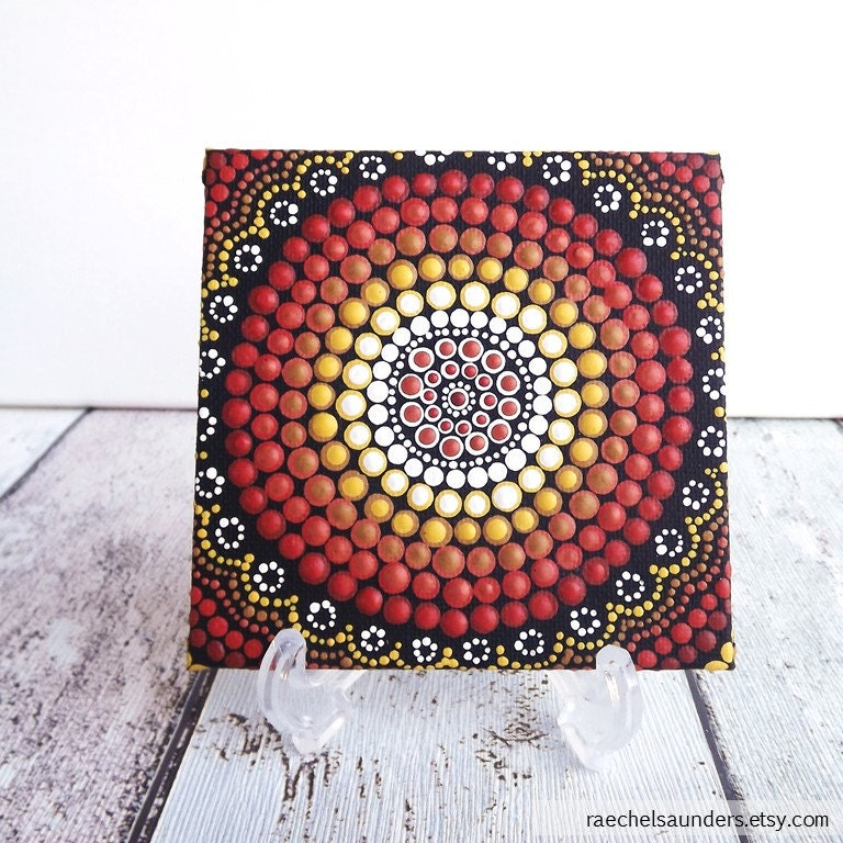 dot art earth design aboriginal acrylic dot painting on