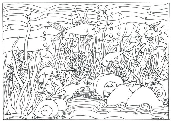 fish themed coloring pages - photo#36