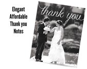 Wedding Photo Thank You Notes Qty. 100