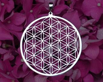 Flower of life pendant (1 3/4) Stainless Steel