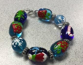 Festive Christmas Bracelet.