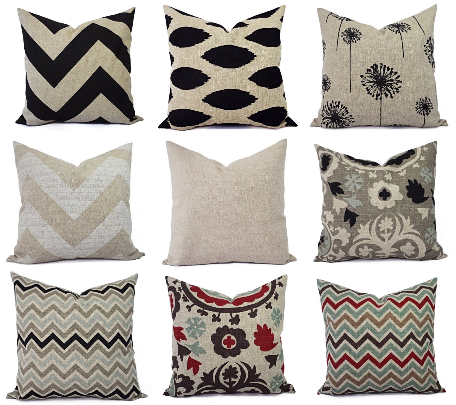 Cream Decorative Pillow Covers : One Throw Pillow Cover Brown and Cream by CastawayCoveDecor