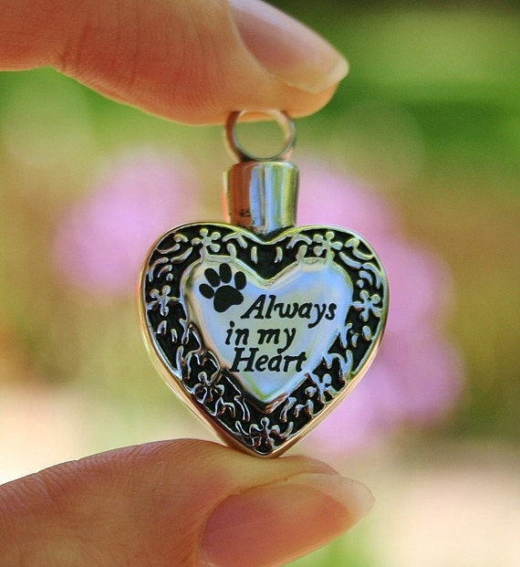 Pet cremation jewelry urn for ashes pendant or necklace cat for Cremation jewelry for pets ashes