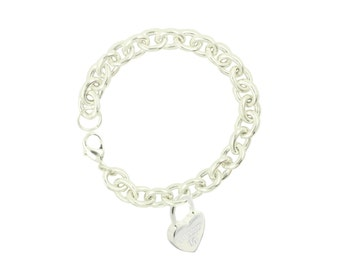 Silver Plated Sweet 16 Sincere Heart Bracelet (Free Shipping)