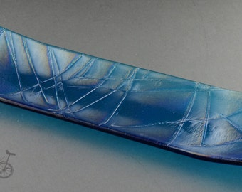 Gold Stringer Fused Glass Tray
