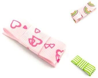 Big Hair Clips/ Hair Clip Set For Girls/ Retro Clip Set/ Pink Trio Snap Clips/ Toddler Hair Clips