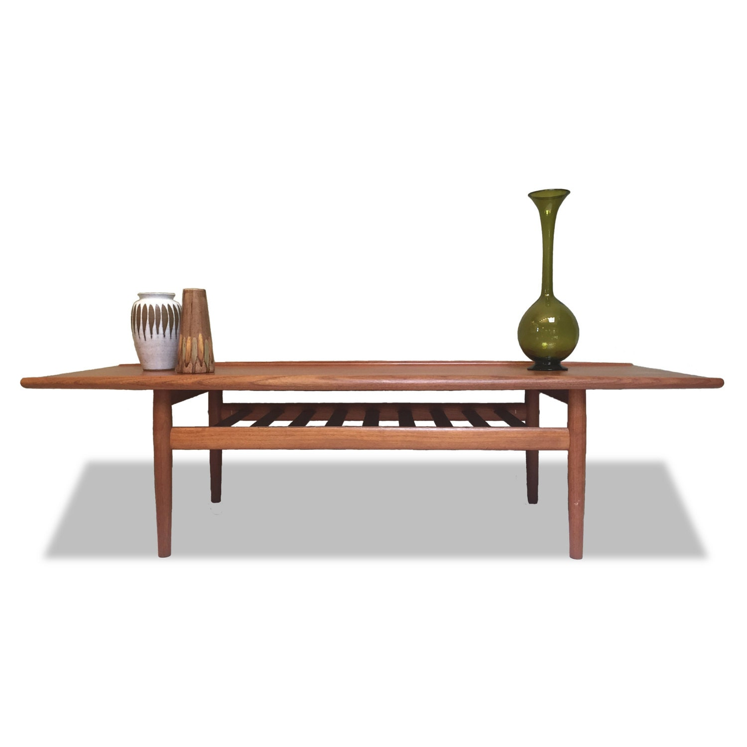 Teak Coffee Table By Grete Jalk: Original Vintage 1960s