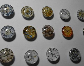 Designer Refrigerator Magnets - Steampunk Gears