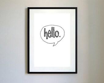 Hello Type Print/Card.
