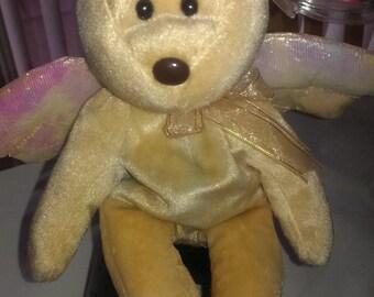 Custom Dyed Ty Halo Beanie Baby Angel Bear