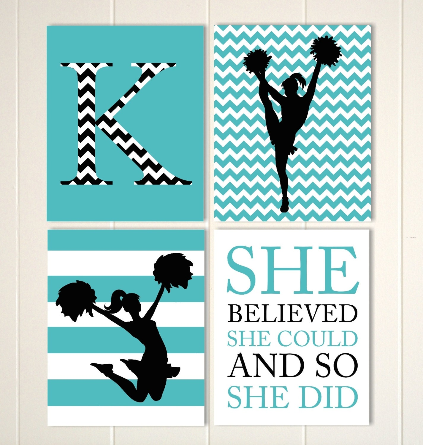 Cheerleader Wall Art Girls Room Cheer Decor By