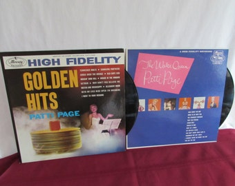 PATTI PAGE Hi Fidelity Records – The Waltz Queen and Golden Hits - Set of 2 Albums