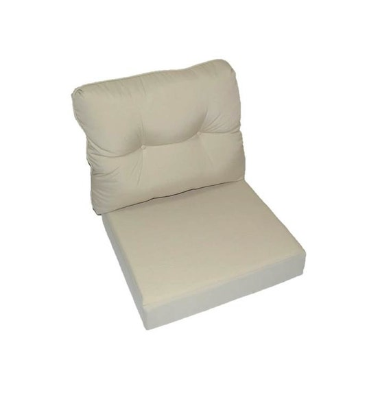 indoor outdoor deep seating chair cushion set seat back tan