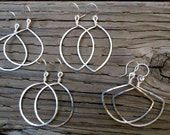 Hand-hammered Hoops / Small