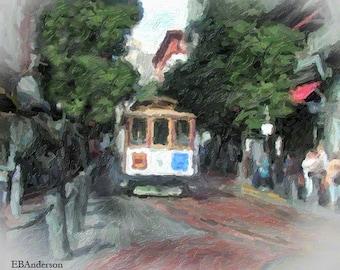 Cable Car, San Francisco Street Scene