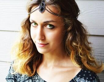 CHAIN HEADPIECE Head Chain,headdress boho chic head piece / head chain / headband