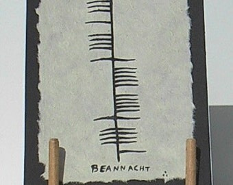 Ogham greeting card. Blessing