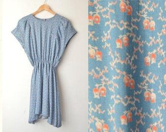 SALE // vintage pastel floral boho grunge skater mini dress 60s 70s // M