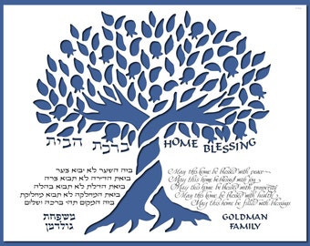 Home Blessing (birkat habayit) Personalized with family name