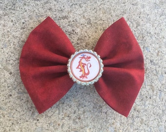 Mushu Fabric Hair Bow/Bow Tie