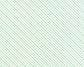 Hello Darling Summer Stripe in Aqua fabric by Bonnie and Camille for Moda Fabrics