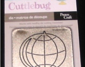 "Globe 37-1530 Earth Cuttlebug 2x2"" Scrapbooking Die"