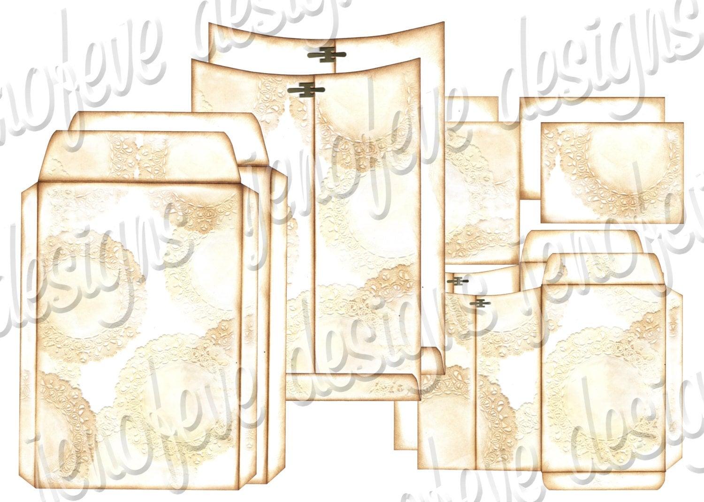 6x9 printable envelope album doily plain templates. Black Bedroom Furniture Sets. Home Design Ideas